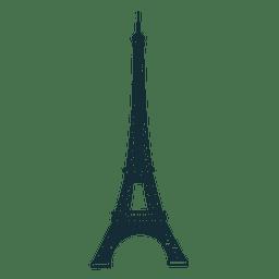 Desenhos animados da torre Eiffel