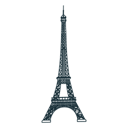 Eiffel tower cartoon