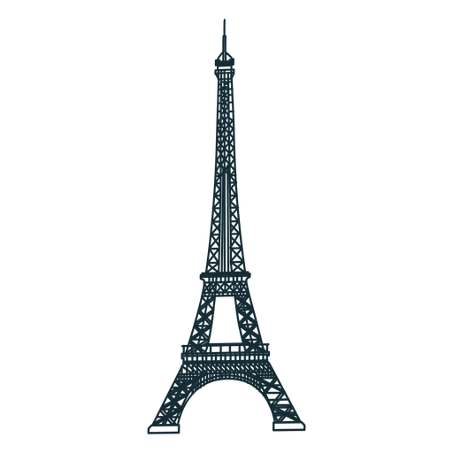 Eiffelturm-Cartoon