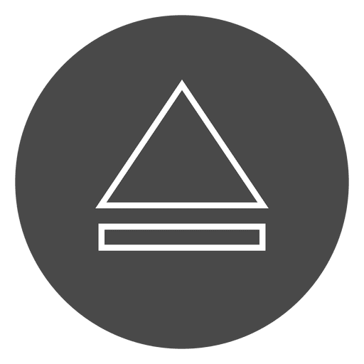 Eject button circle icon