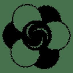 Círculo de colheita de flor