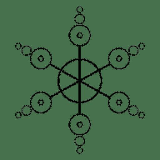 Formação feita de cirles cultivados Transparent PNG