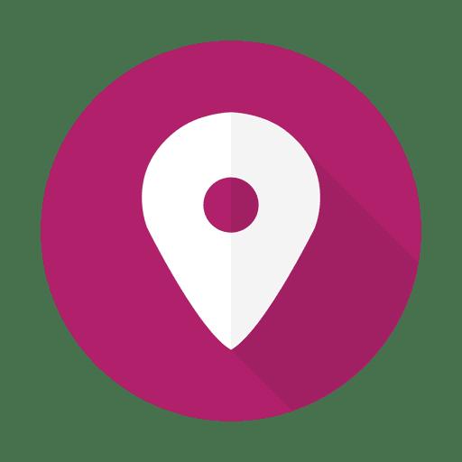 Geolokalisierungszeichen lila Transparent PNG