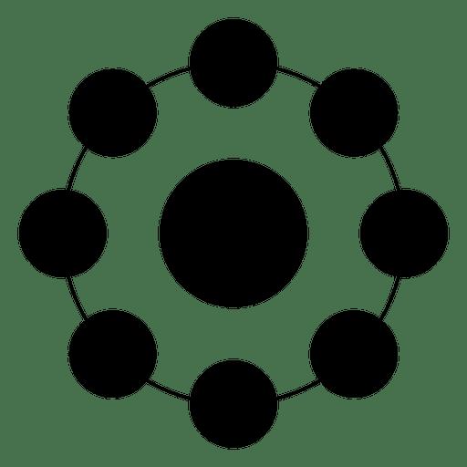 Forma geométrica hecha de círculos y puntos. Transparent PNG