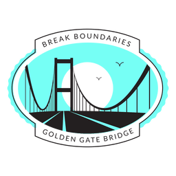 logotipo da ponte Golden Gate