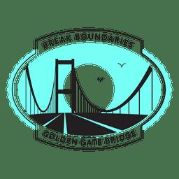 Logotipo del puente de la puerta de oro