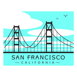 Golden gate bridge logo 02