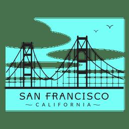 Golden gate bridge logo 02