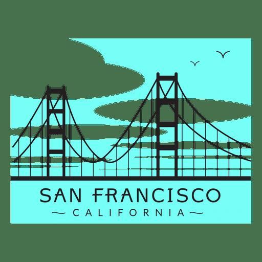 Golden gate bridge logo 02 Transparent PNG