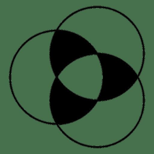 Círculos intersectados de forma geométrica. Transparent PNG