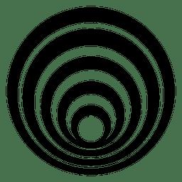Círculo rayado aislado diseño