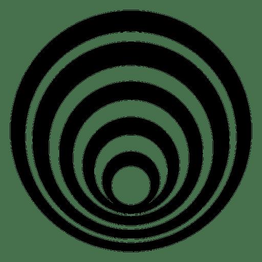 Desenho de círculo listrado isolado Transparent PNG