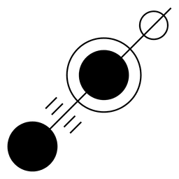 Line with different circles along