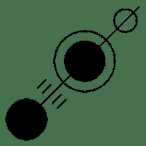 Línea con diferentes círculos a lo largo Transparent PNG