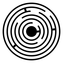 Maze Crop espiral ilustración