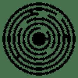 Maze-Ernte-Spiralen-Illustration