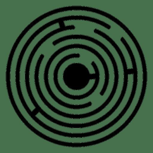 Ilustración de espiral de cultivo de laberinto