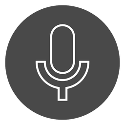 Microfone no ícone de círculo de botão