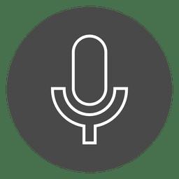 Micrófono en el icono de círculo de botón
