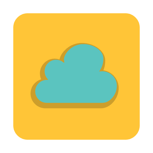 Online cloud sign with background