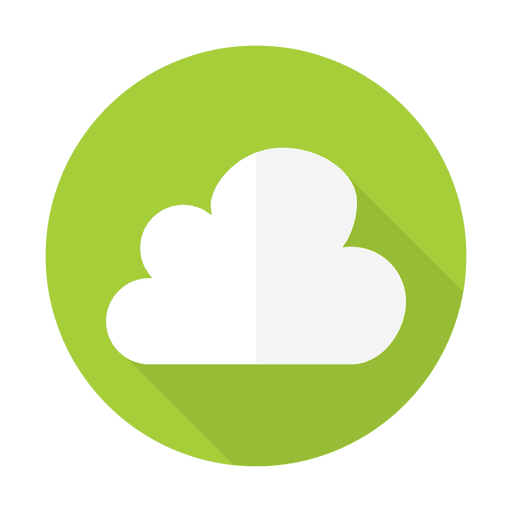 Online cloud sign with round background