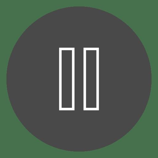 Ícone de círculo de botão de pausa Transparent PNG