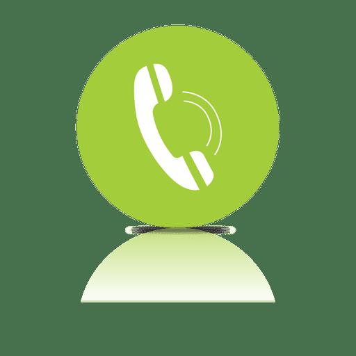 Icono de sombra de teléfono