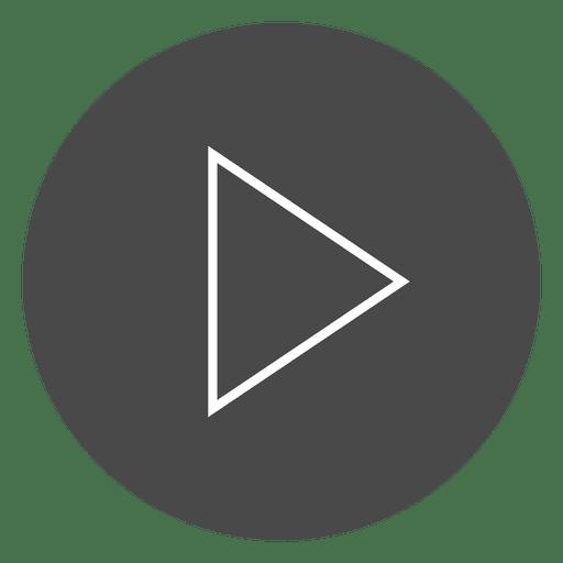 Play button circle icon