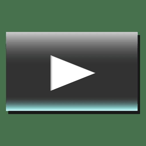 Play button rectangle icon