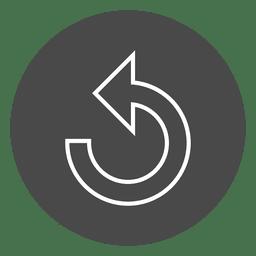Repita o ícone de círculo de botão de seta