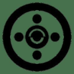 Círculo simples de colheita abstrata