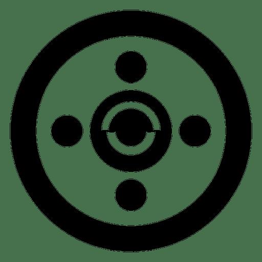 Círculo de cultivo abstracto simple
