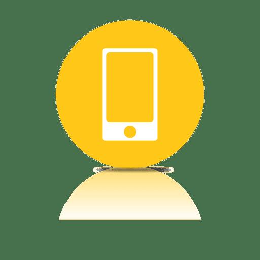Icono de sombra de smartphone
