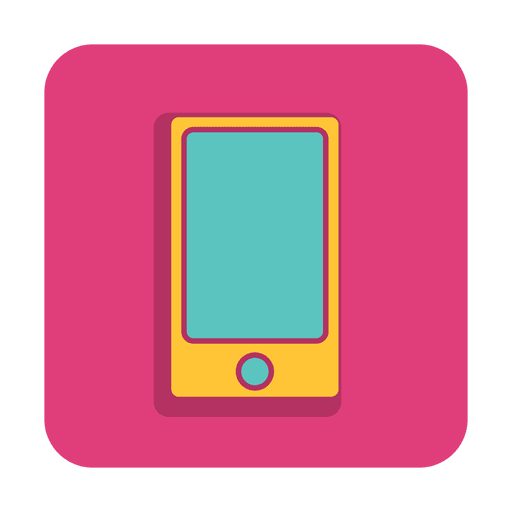 Smartphone icon with color background - Transparent PNG ...