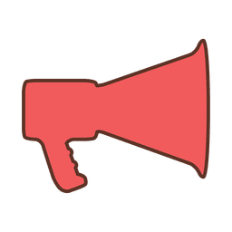 Stroke megaphone red sign