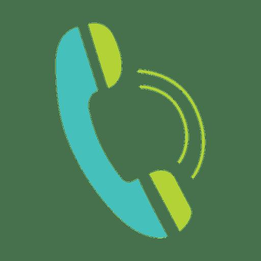 Ícone plana de telefone Transparent PNG