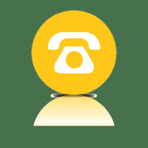 Icono de sombra de telefono Transparent PNG
