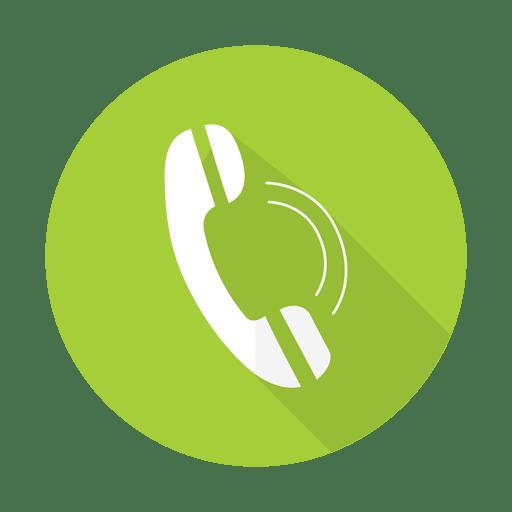 Sinal de telefone com fundo redondo - Baixar PNG/SVG Transparente