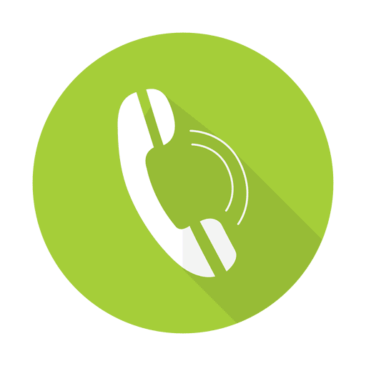 Telephone sign with round background Transparent PNG