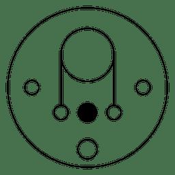 Círculo de colheita de linha fina ilustração