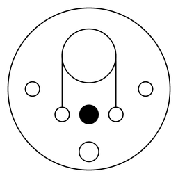 delgada línea círculo de la cosecha Ilustración
