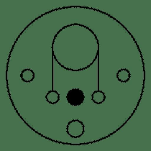Ilustración de círculo de línea delgada cosecha Transparent PNG