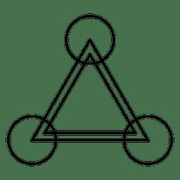 Triângulo desenho círculo de cultura