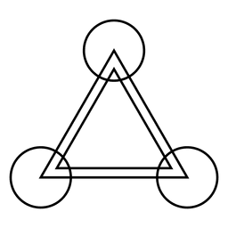 Triángulo de cultivo círculo dibujo