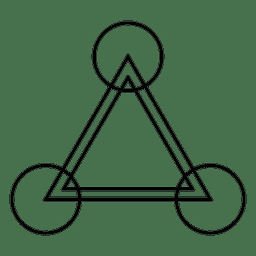 Triángulo de cultivo círculo de dibujo Transparent PNG