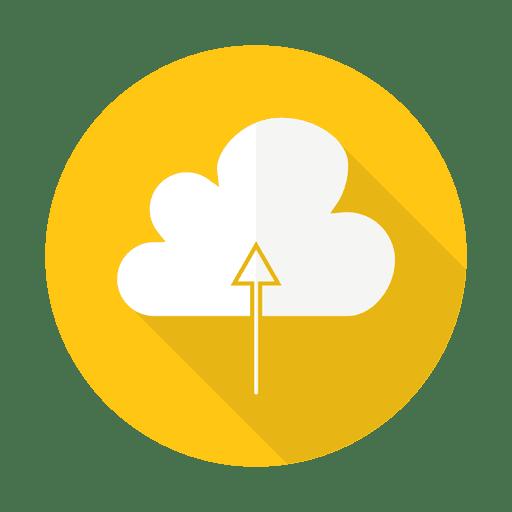 Subiendo a la nube firmar con fondo redondo Transparent PNG
