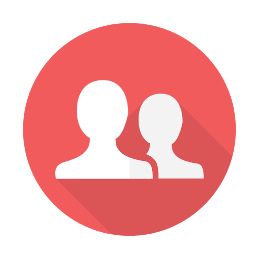 Users sign red Transparent PNG