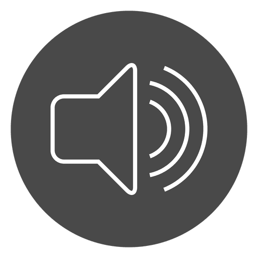 Volume button grey circle icon Transparent PNG