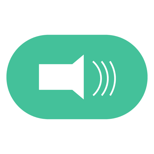 Flat volume button icon Transparent PNG