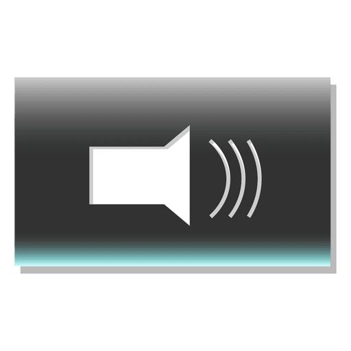 Volume button rectangle icon Transparent PNG